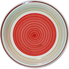 5117-1 Тарелка 10,5 'Полоска красная