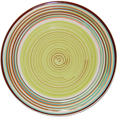 5116-1 Тарелка 10,5 'Полоска зеленая