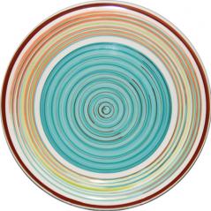 5115-1 Тарелка 10,5 'Полоска голубая