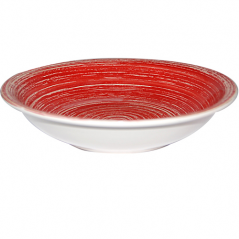 5113-3 Plate 8.25 'soup. Pastel red