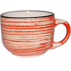6114 Чашка 450мл Пастель красная