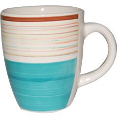 6117 Чашка 360мл Полоска голубая