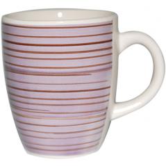 6120 Чашка 360мл Полоска фиолетовая