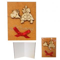 95405-09 Мини-открытка HAPPY BIRTHDAY Черепашка, 95*70мм, коричневая