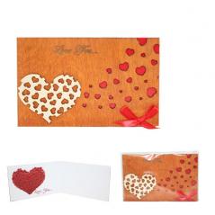 95403-03 Открытка HAPPY BIRTHDAY Love-Сердце из сердечек 2х слойная 95*145мм