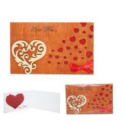 95403-02 Открытка HAPPY BIRTHDAY Love-Сердце Завитушки 2х слойная 95*145мм