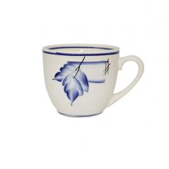 50199 Чашка Одесса рисунок осень кобальт 220мл