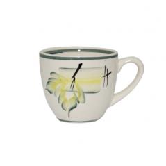 50199 Чашка Одесса рисунок осень зеленая 220мл