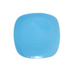 3581 Тарелка квадратная 8' голубая