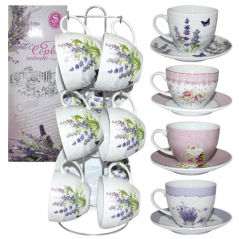 1520 tea service etc. 12. Rack Flowers mix 3 (200ml, d13,5sm)