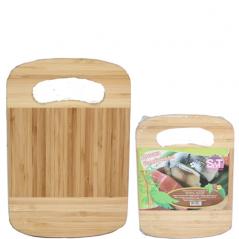 958 доска разделочная бамбуковая 20х15х1,5 с отверстием
