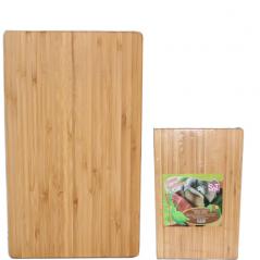 960 доска разделочная бамбуковая 25,5х20х1,9