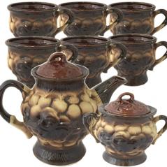 50102 Набор чайный 8пр. (чайник-1,4л, сахарн.-600мл, 6 чашек-300мл) Чайная колекция