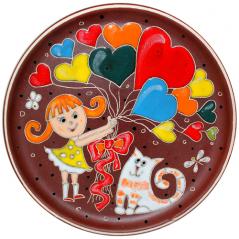 531033 Тарелка Девочка с шариками 22,5 см