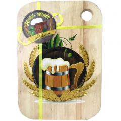 080-20-05 Доска кухонная разделочная с отверстием 'Пиво и хмель' (20*30см)