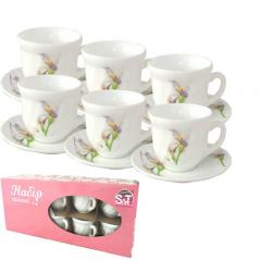 30055-1069 Набор чайный 12пр.(чашка-190мл, блюдце-14см) Каллы