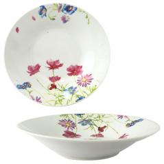 55615 Суповая тарелка 8' Розовый цветок