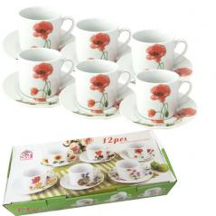 55625 Набор чайный 12 пр. <a href='http://snt.od.ua/ru/poisk.html?q=Красный мак' />Красный мак</a> (чашка-250мл, блюдце-16см)