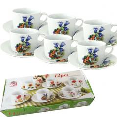 55629 Набор чайный 12 пр. Колокольчики (чашка-250мл, блюдце-16см)