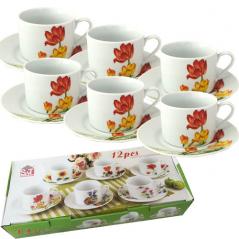 55630 Набор чайный 12 пр. <a href='http://snt.od.ua/ru/poisk.html?q=Тюльпан' />Тюльпан</a> (чашка-250мл, блюдце-16см)