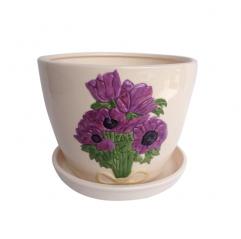 647-005/4 Горшок Пурпурные цветы 9,5*8