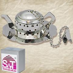37223 Заварник для чая в чашке с подставкой 6 * 2,5 см, декор Чайник