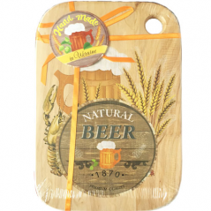 080-20-04 Доска кухонная разделочная с отверстием 'Natural Beer' (20*30см)