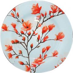 309 Блюдо круглое 10-25см (Красная сакура)