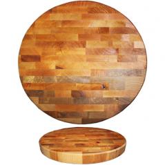 8937 Доска кухонная разделочная круглая торцевая 27см (толщ-4,5см)