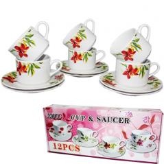 533-23 Набор чайный 12пр Садовые цветы (чашка-200мл, блюдце-15см)