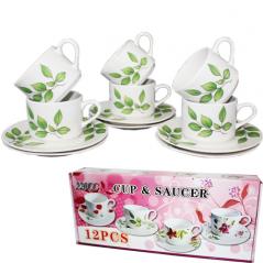533-24 Набор чайный 12пр Береза (чашка-200мл, блюдце-15см)