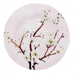 337 Тарелка круглая 8- 20 см (Цветущая сакура)