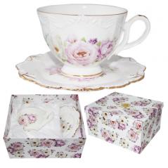 1722 Набор чайный 2пр. 'Нежность' (чашка-260мл,блюдце-15см)