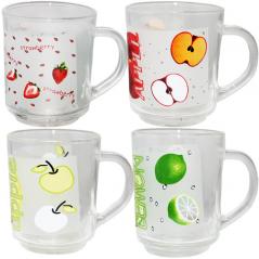 9304 Чашка стекляная с рисунком <a href='http://snt.od.ua/ru/poisk.html?q=Микс' />Микс</a>9 250мл