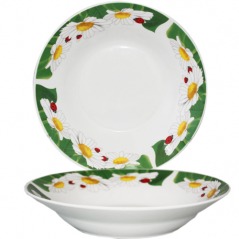 3082-102 Тарелка суп 8' Ромашки