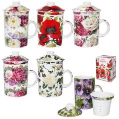 2052-1 Чашка заварочная  'Цветы' 300мл