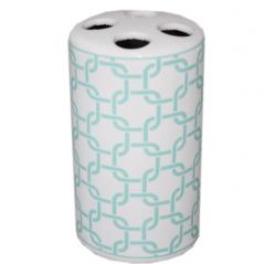 888-118 Подставка для зубных щеток 'Голубая геометрия' (6.5*11.5 см)