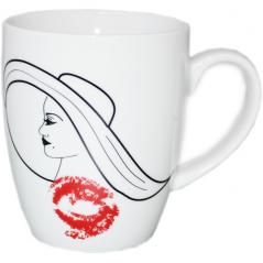 040-01-62 Чашка 380мл Дама в шляпе 3