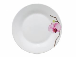 308 Тарелка 7,5 154 Розовая орхидея (Русский стикер)