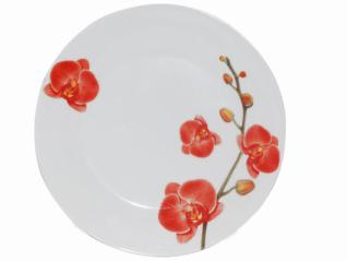 3081 Тарелка 9 '116 Орхидеи (Русский стикер)