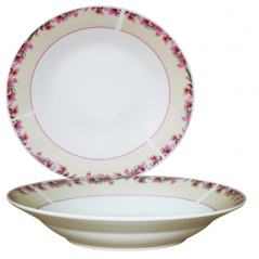 30003-1579 Тарелка 8'суп Розовый жасмин