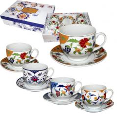 023-12-01 tea service 12pr. Golden flower mix 1