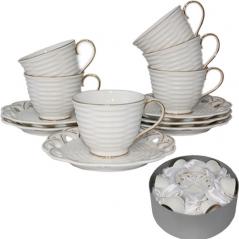 022-12-02 Набор чайный 12пр. Эстет (чашка-220мл, блюдце-16см)
