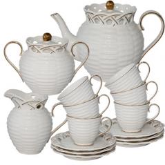 022-15-02 Набор чайный 15пр. Эстет (чашка-220мл, блюдце-16см)