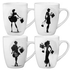 040-01-20 Чашка 300мл Дамы с покупками