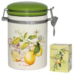 631-7 Ёмкость для сыпучих продуктов, 1,2л. '<a href='http://snt.od.ua/ru/poisk.html?q=Лимон' />Лимон</a>' (d-10 см, h-15 см)