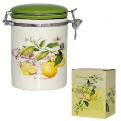 629-7 Ёмкость для сыпучих продуктов, 0,75л. '<a href='http://snt.od.ua/ru/poisk.html?q=Лимон' />Лимон</a>' (d-10 см, h-13 см)