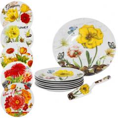 30838 Набор для торта 8пр. '<a href='http://snt.od.ua/ru/poisk.html?q=Цветы' />Цветы</a>' микс2