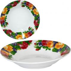 050-10-07 Тарелка суповая 8' Чайная роза