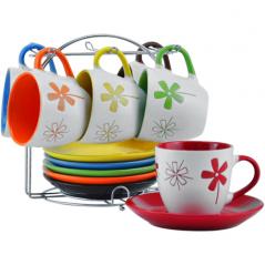 023-12-05 Сервиз кофейный 12 пр. на стойке (чашка-100мл, блюдце-11см)